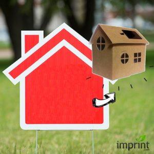 Yard Sign as Birdhouse