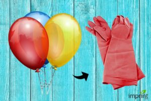 Balloon as Cleaning Glove