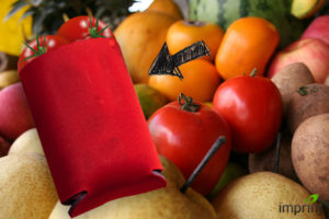 Use koozie to keep fruit from bruising in bags