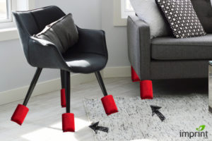 Use koozie to prevent furniture from scratching your floors