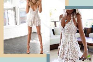Lacy Romper Bridesmaid Robe Alternative