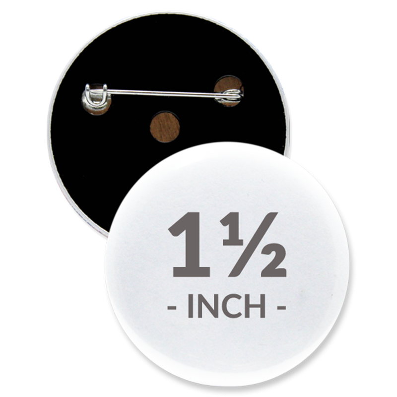1 1/2 Inch Round Custom Buttons