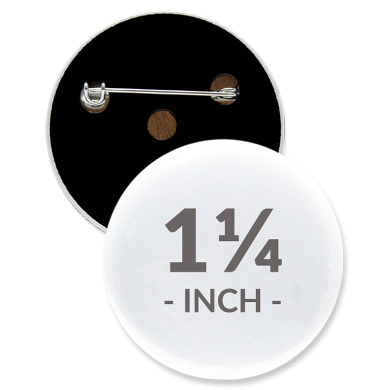 1 1/4 Inch Round Custom Buttons
