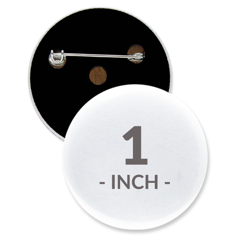 1 Inch Round Custom Buttons