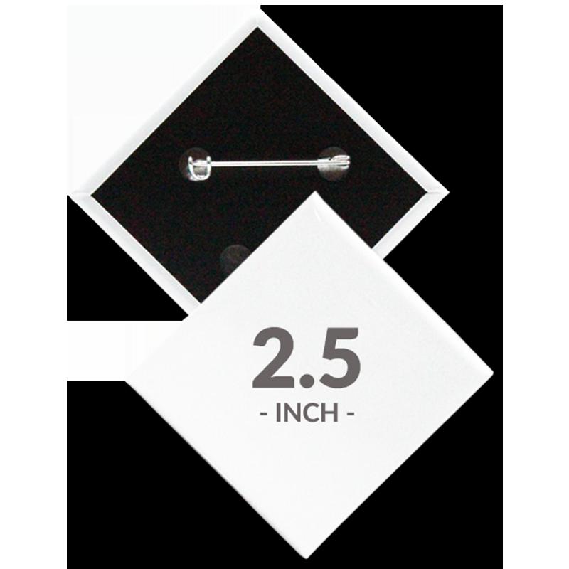 2.5 X 2.5 Inch Diamond Custom Buttons