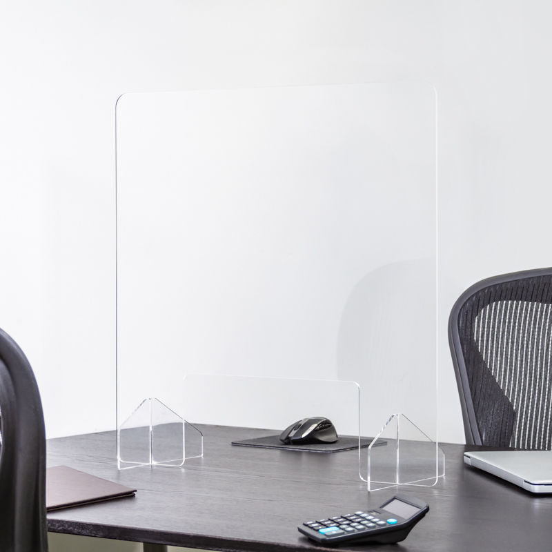 24 X 24 Inch Blank Protective Acrylic Counter Barrier