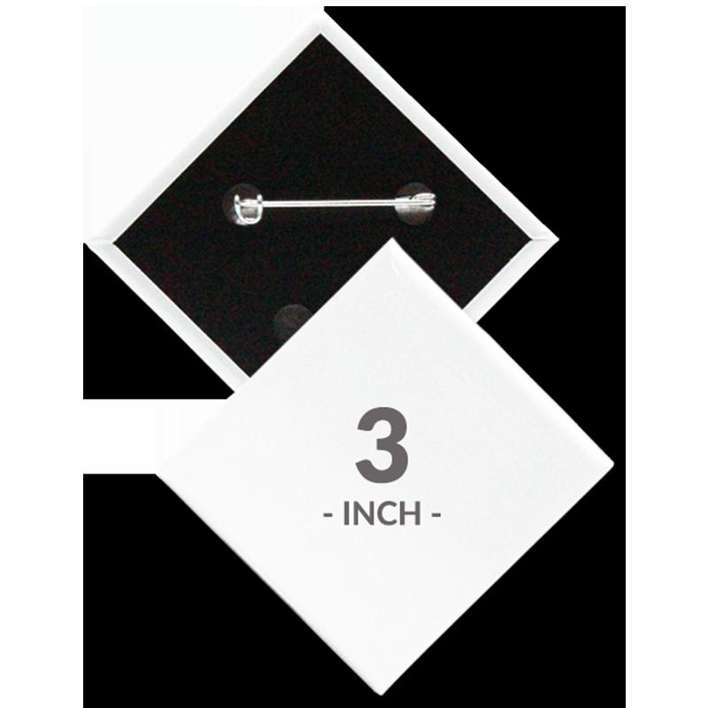 3 X 3 Inch Diamond Custom Buttons