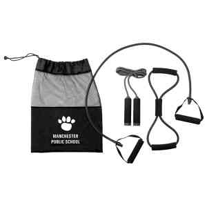 3pcs Fitness Set Packed In Polyester Duffel Bag