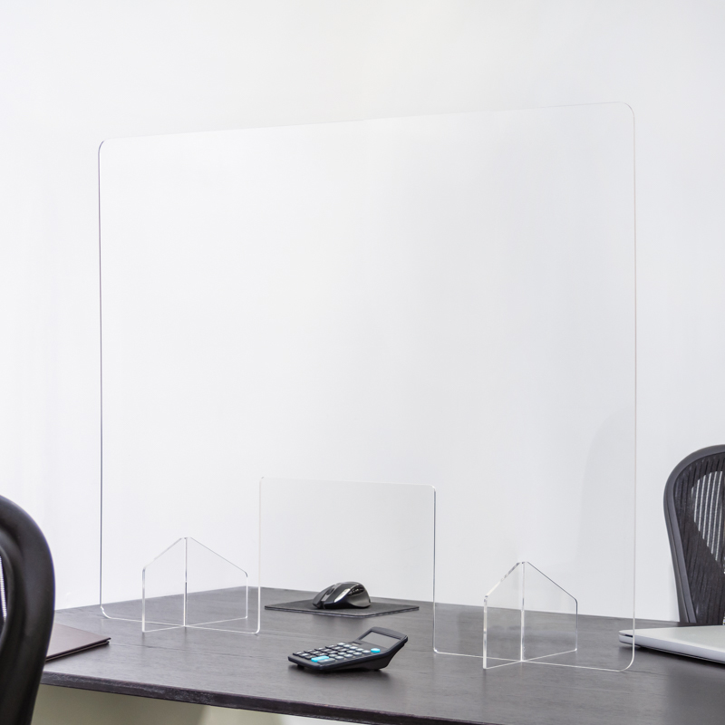 40 X 32 Inch Blank Protective Acrylic Counter Barrier