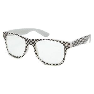 Checkered Wayfarer Style Sunglasses