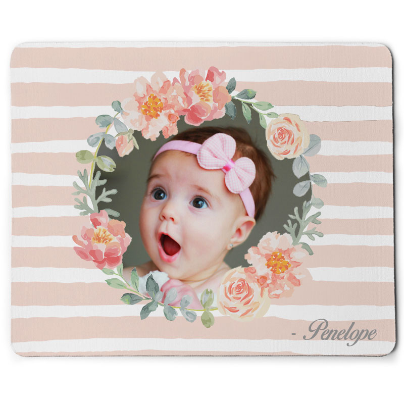 Custom Baby Wreath Mouse Pad