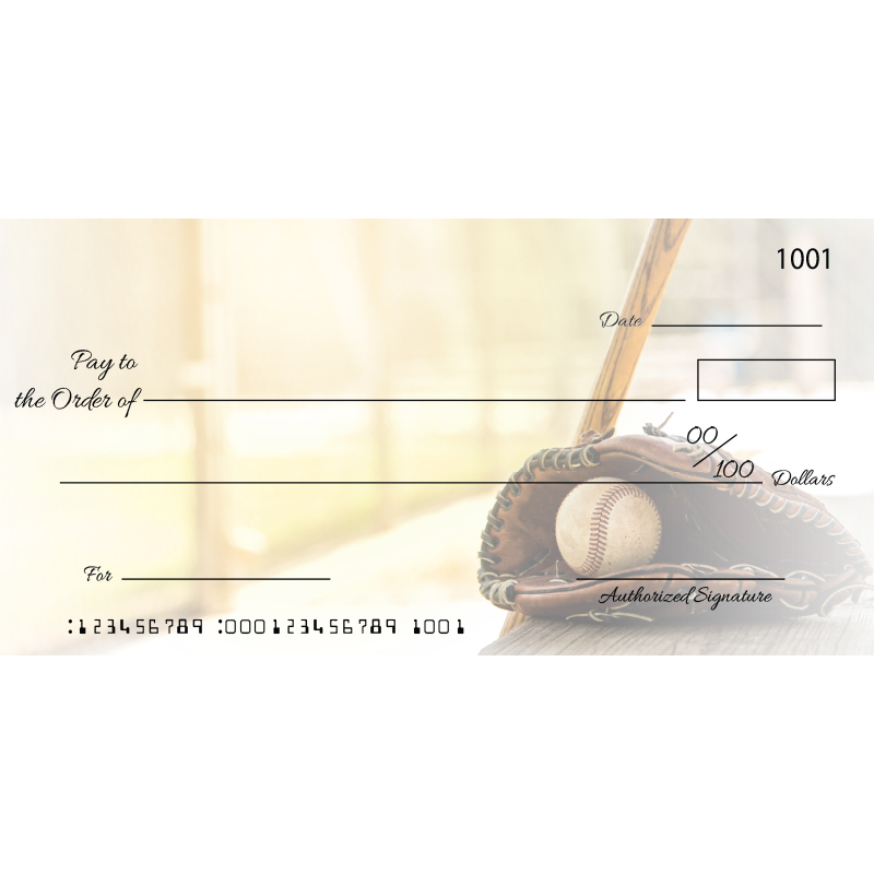 Custom Baseball Big Checks
