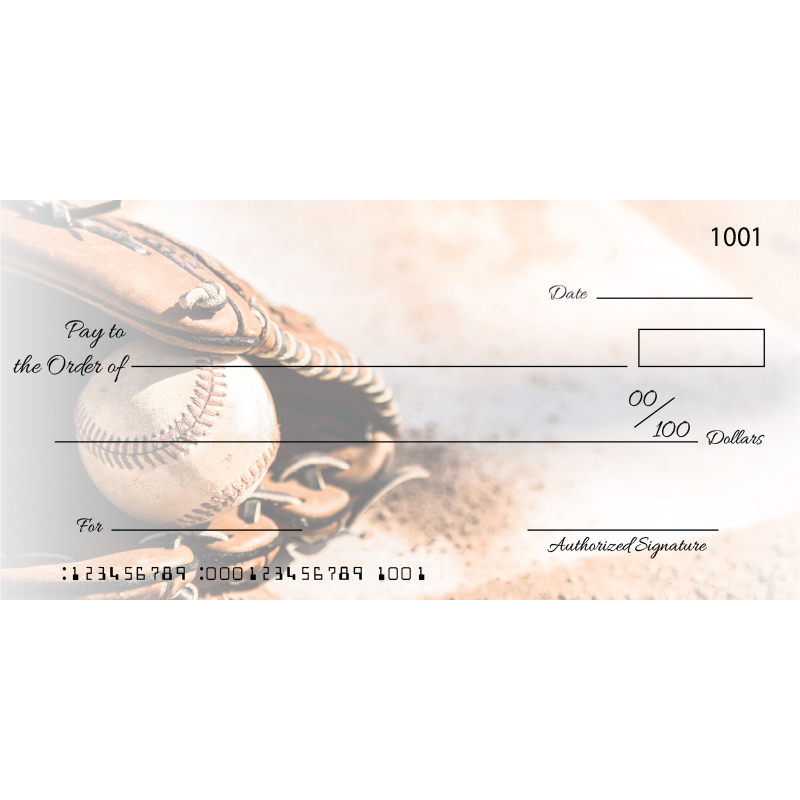 Custom Baseball Glove Big Checks
