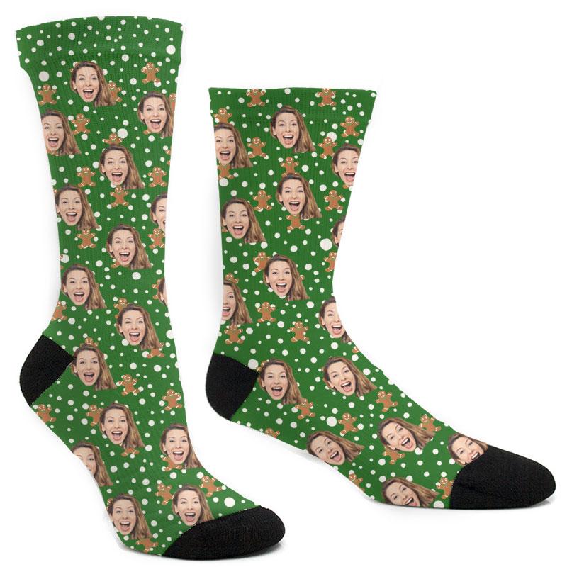 Custom Christmas Gingerbread Socks