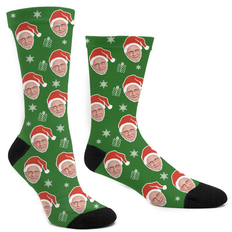 Custom Christmas Santa Hats Socks