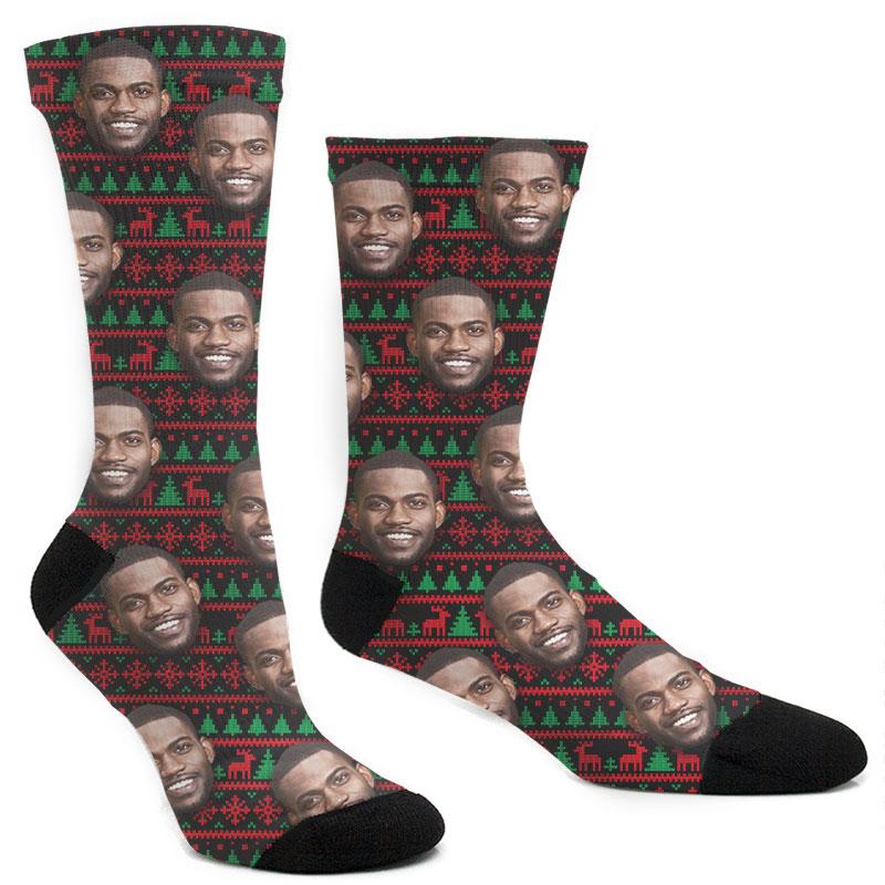 Custom Christmas Ugly Sweater Socks