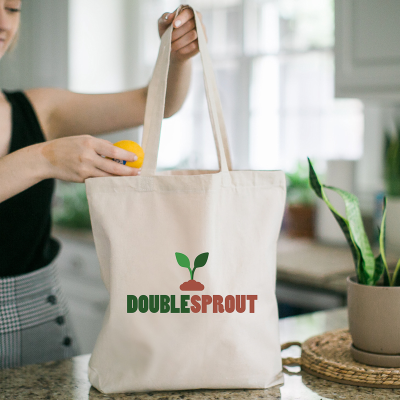 Custom Cotton Grocery Tote Bags
