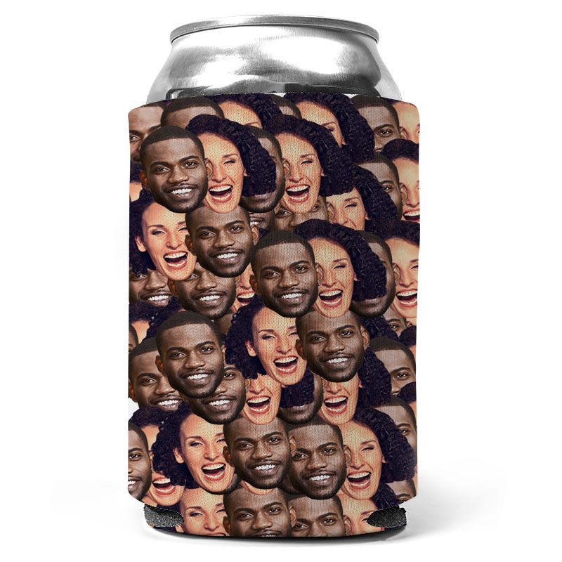 Custom Couple Mash Up Can Coolers
