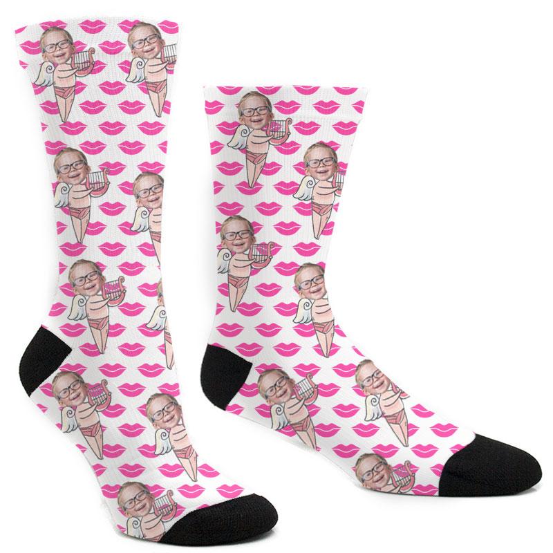 Custom Cupid's Harp Socks