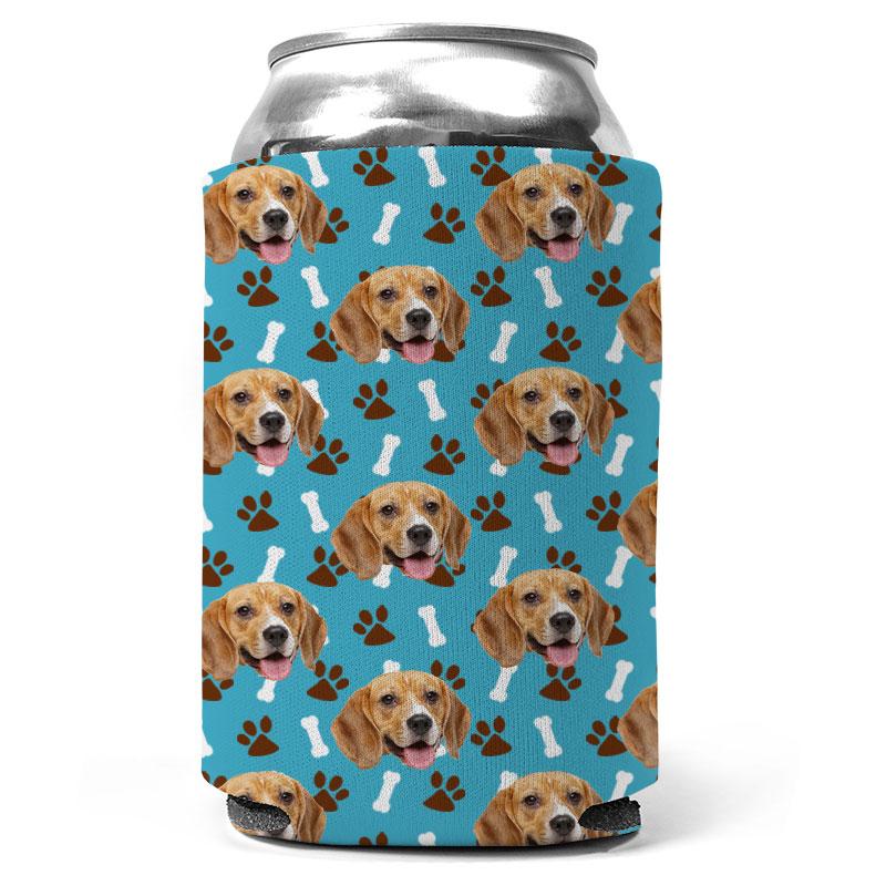 Custom Dog Bone And Paw Can Coolers