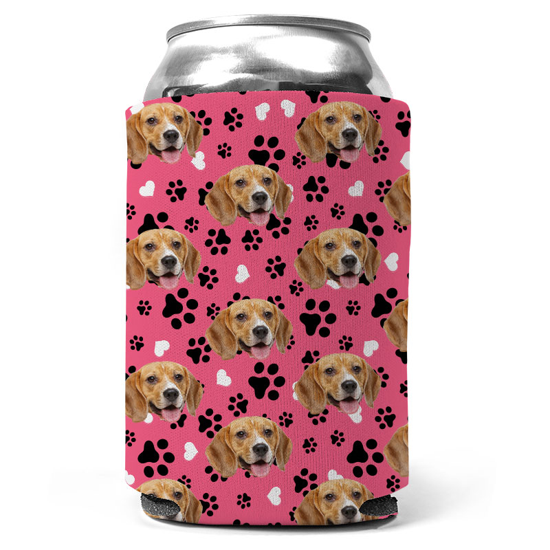 Custom Dog And Paw Can Coolers