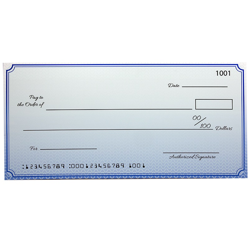 Custom Economy Large Checks 22 X 48 Inch