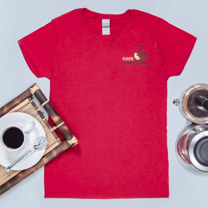 Custom Embroidered Ladies Basic Cotton T-Shirts