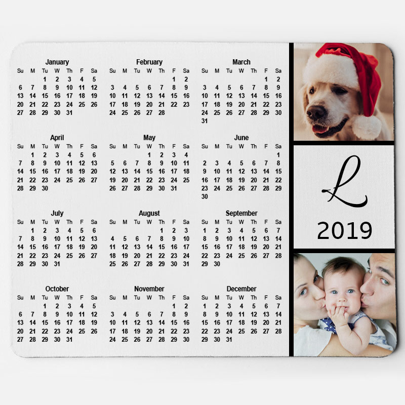 Custom Family And Pets Calendar Mouse Pad