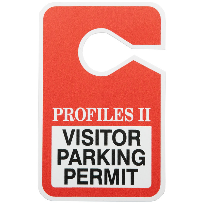 Custom Full Color Hanging Parking Permits - 3.5