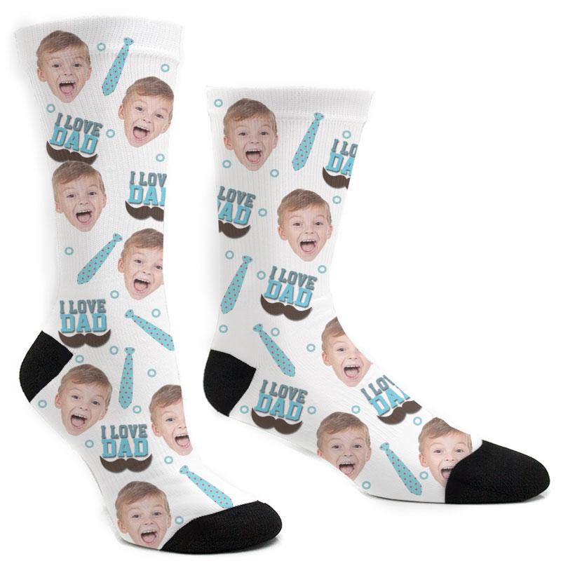 Custom I Love Dad Socks