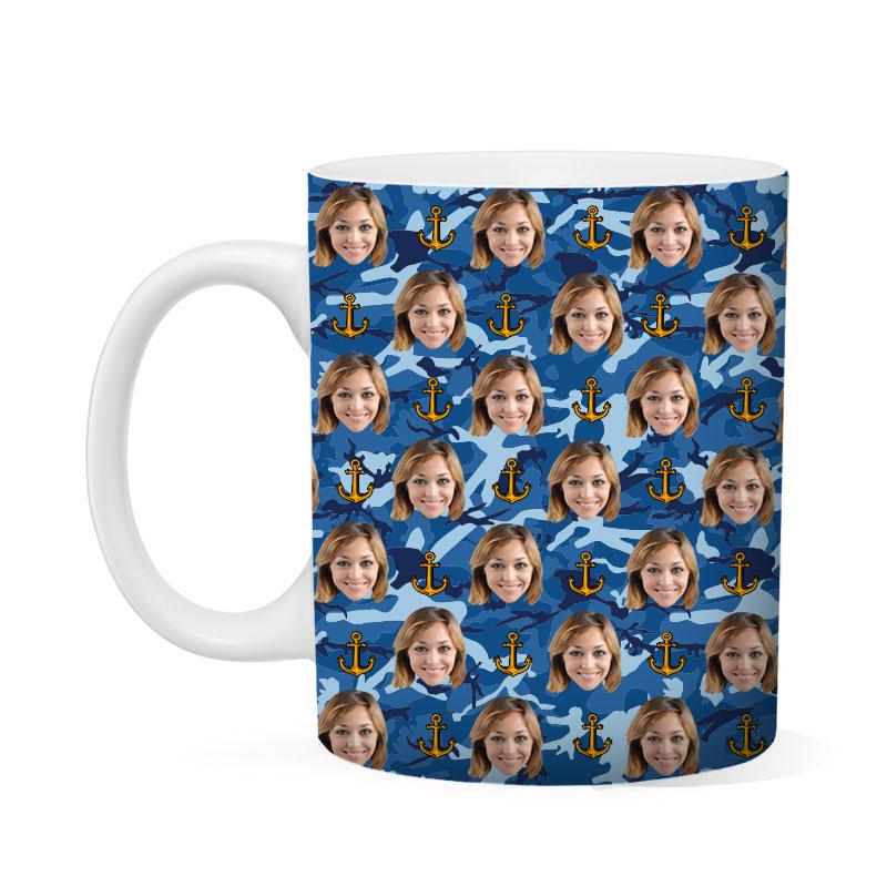 Custom Navy Mug