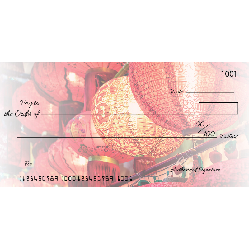 Custom Red Lantern Big Checks