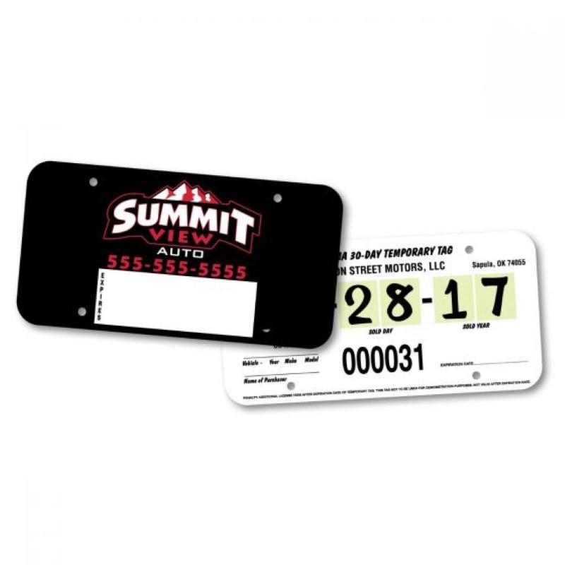 Dealer License Plate Inserts