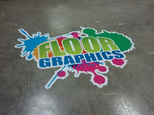 Floor Graphic Ad