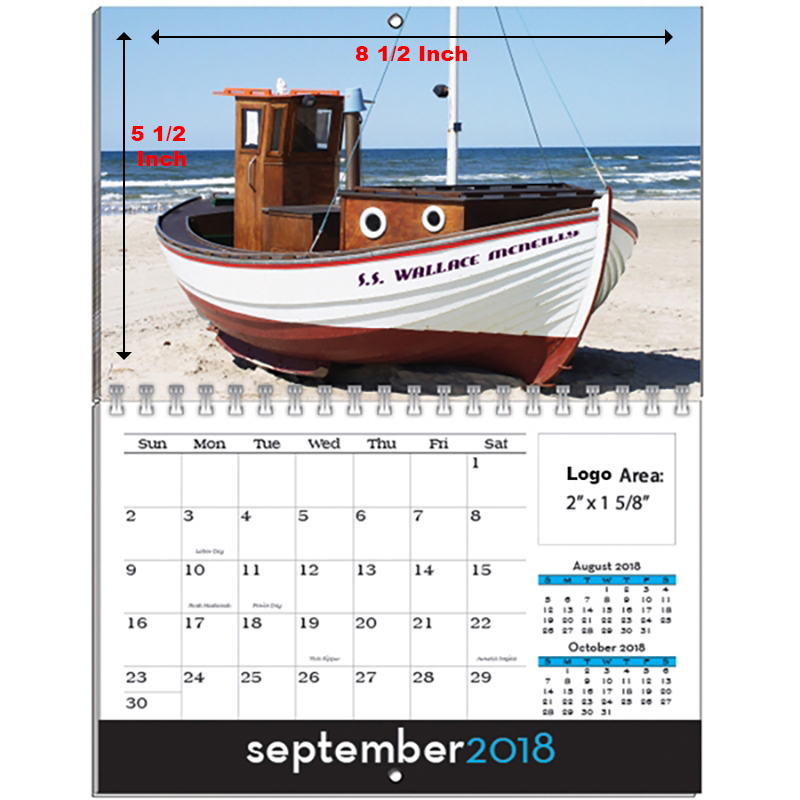 Full Color Image Personalized Wall Calendars