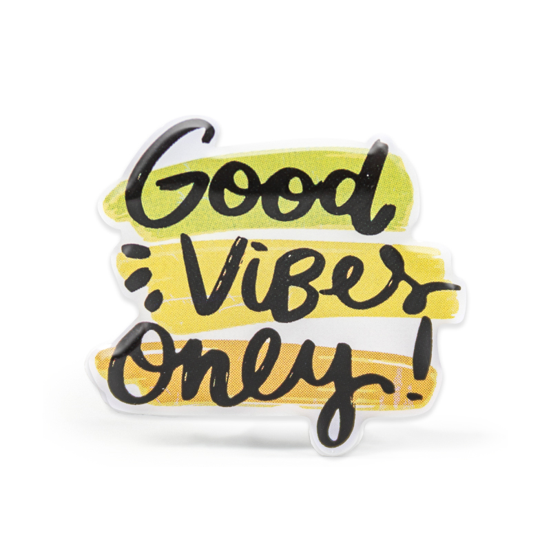 Good Vibes Only Stock Lapel Pins