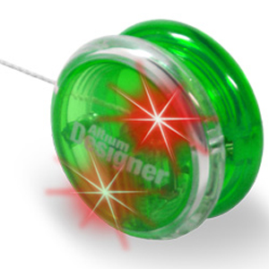 Light Up Yoyo - Green - Red LED