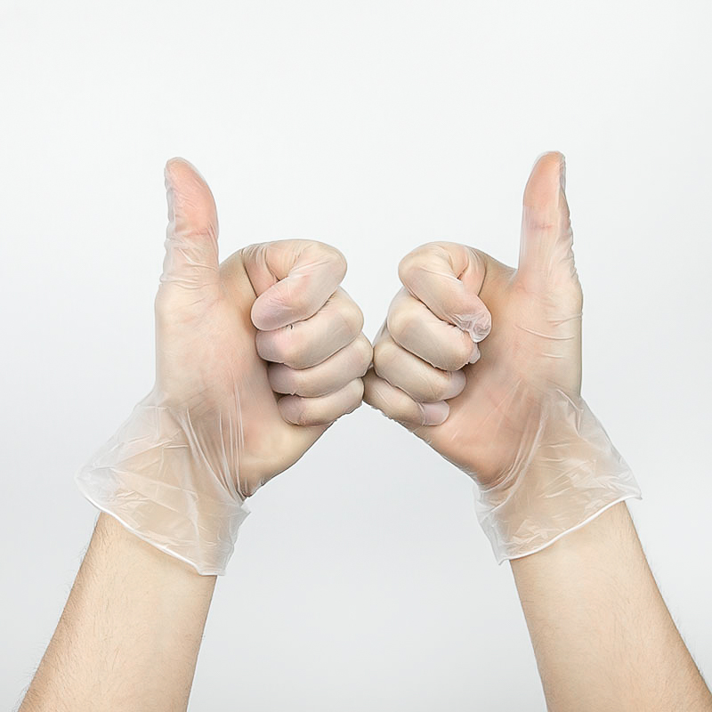 Low Minimum Disposable Vinyl Gloves - Box Of 100pcs
