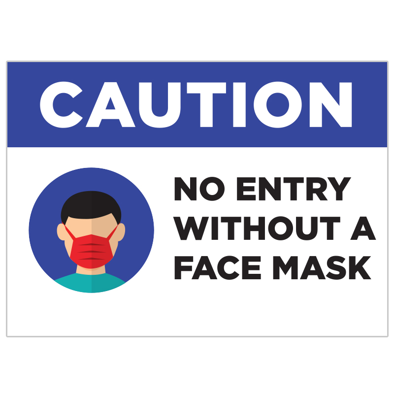 No Entry Without A Mask Stickers