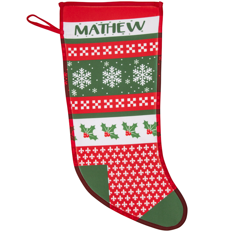 Personalized Name Nordic Christmas Stockings