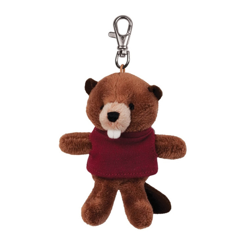 Plush Wild Bunch Key Tags- Beaver