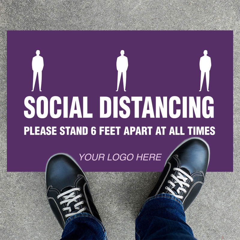 Social Distancing Rectangle Floor Stickers