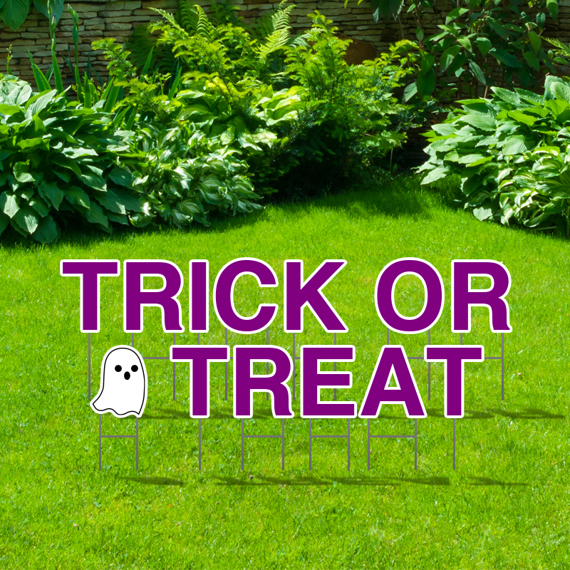 Pre-Packaged Trick Or Treat Yard Letters