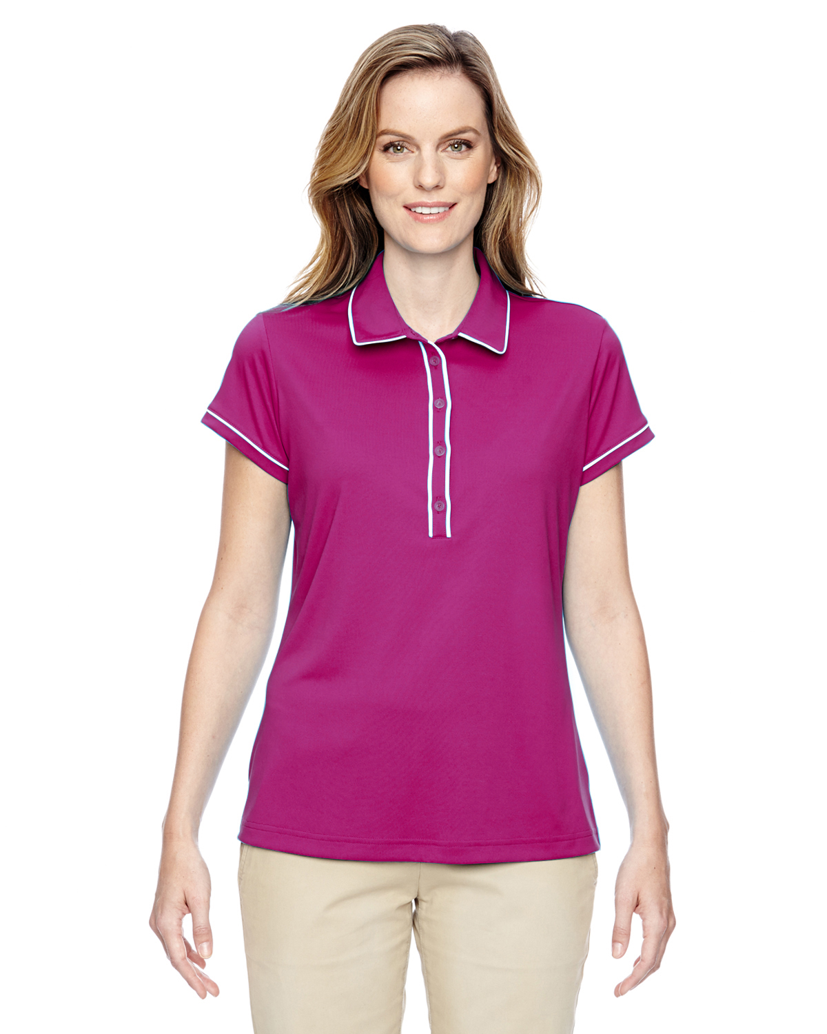 Adidas Golf Ladies Piped Fashion Polo