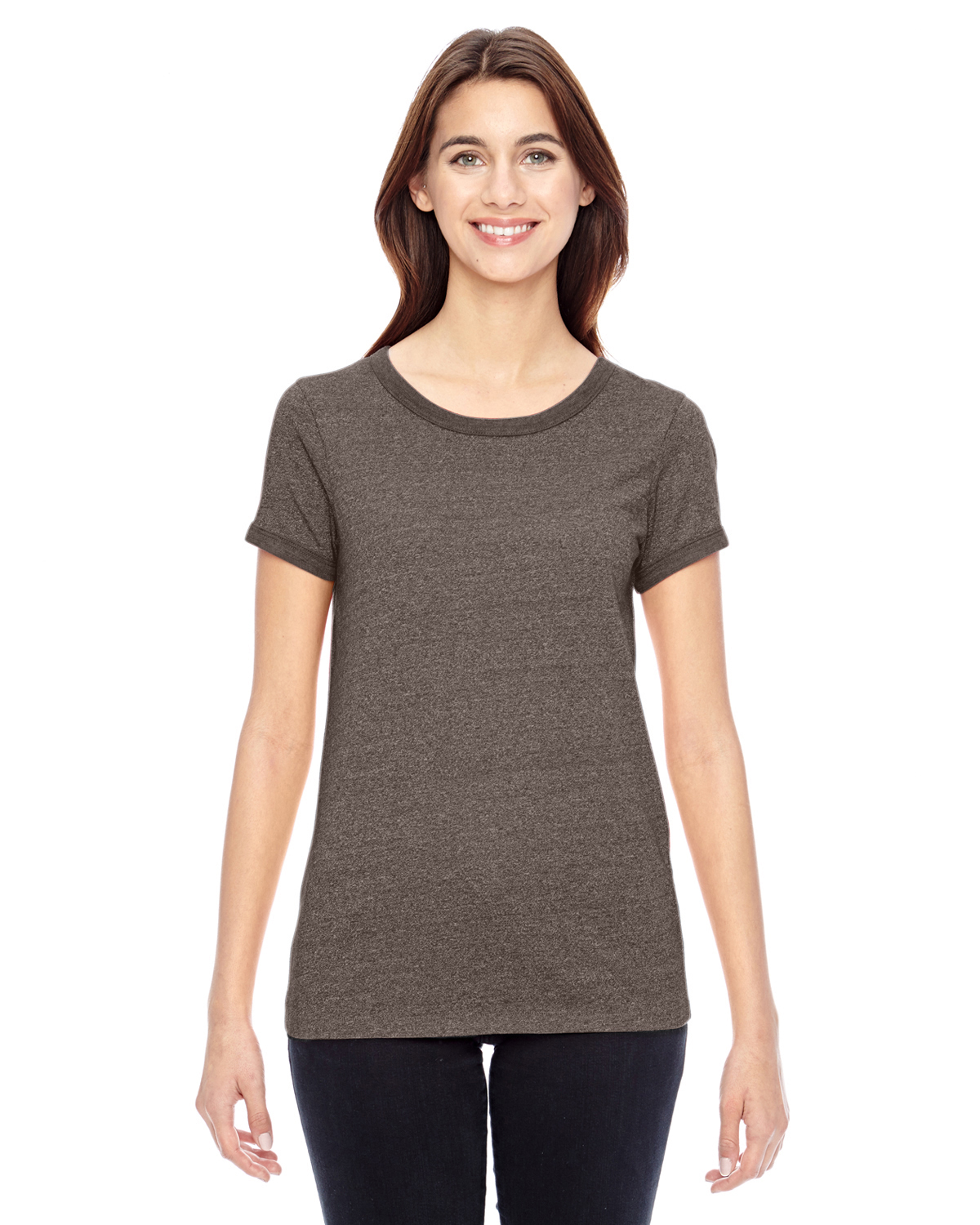 Alternative Ladies Eco-Mock Twist Ideal Ringer T-Shirt
