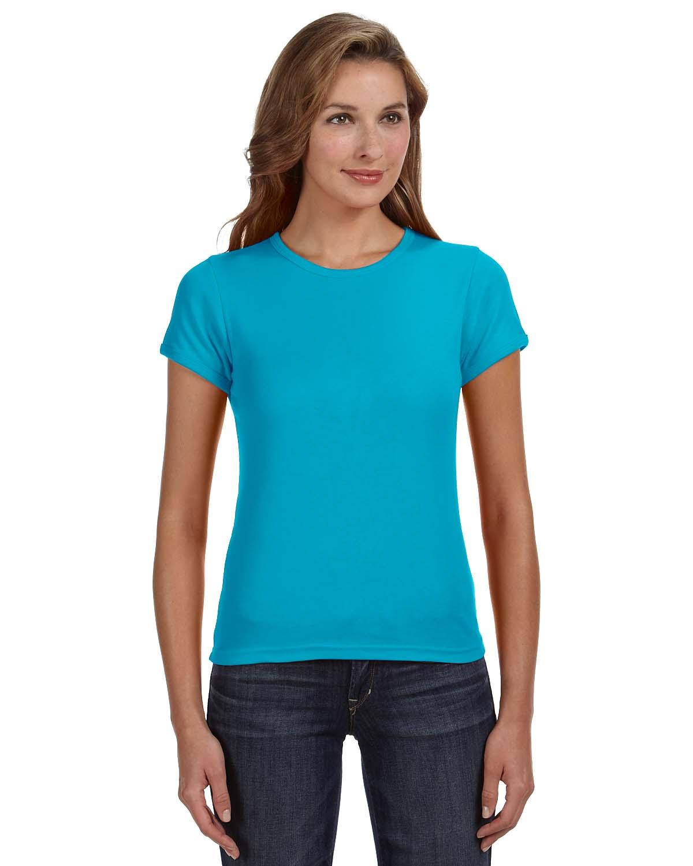 Anvil Ladies 1x1 Baby Rib Scoop T-Shirt