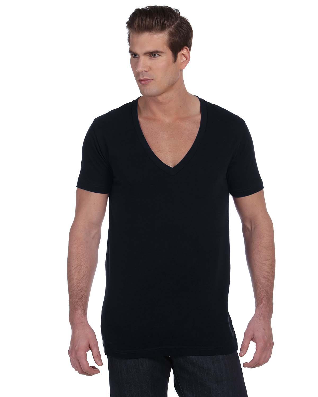 Bella Unisex Jersey Short-Sleeve Deep V-Neck T-Shirt