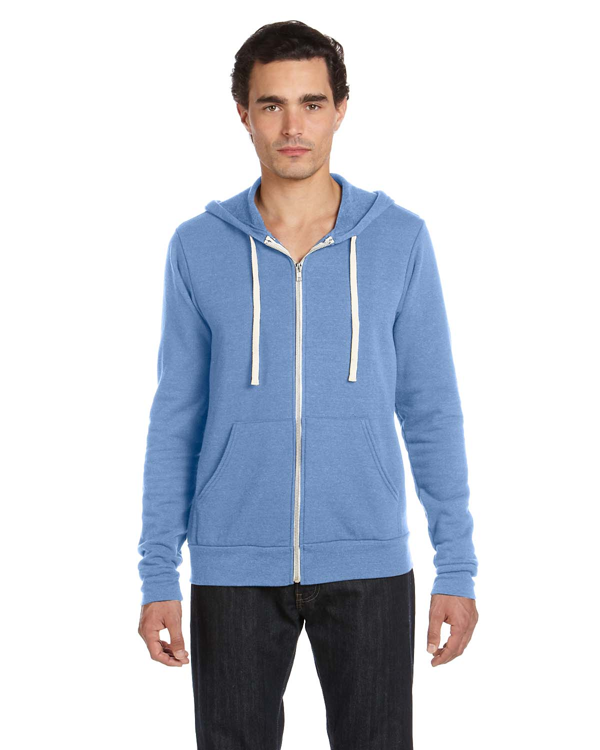 Bella Unisex Triblend Sponge Fleece Full-Zip Hoodie