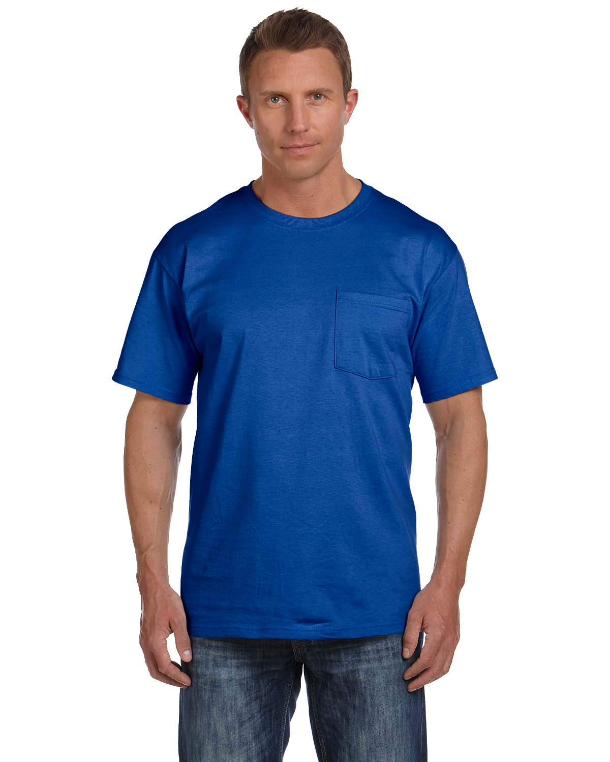 Fruit Of The Loom Adult 5 Oz. HD Cotton™ Pocket T-Shirt