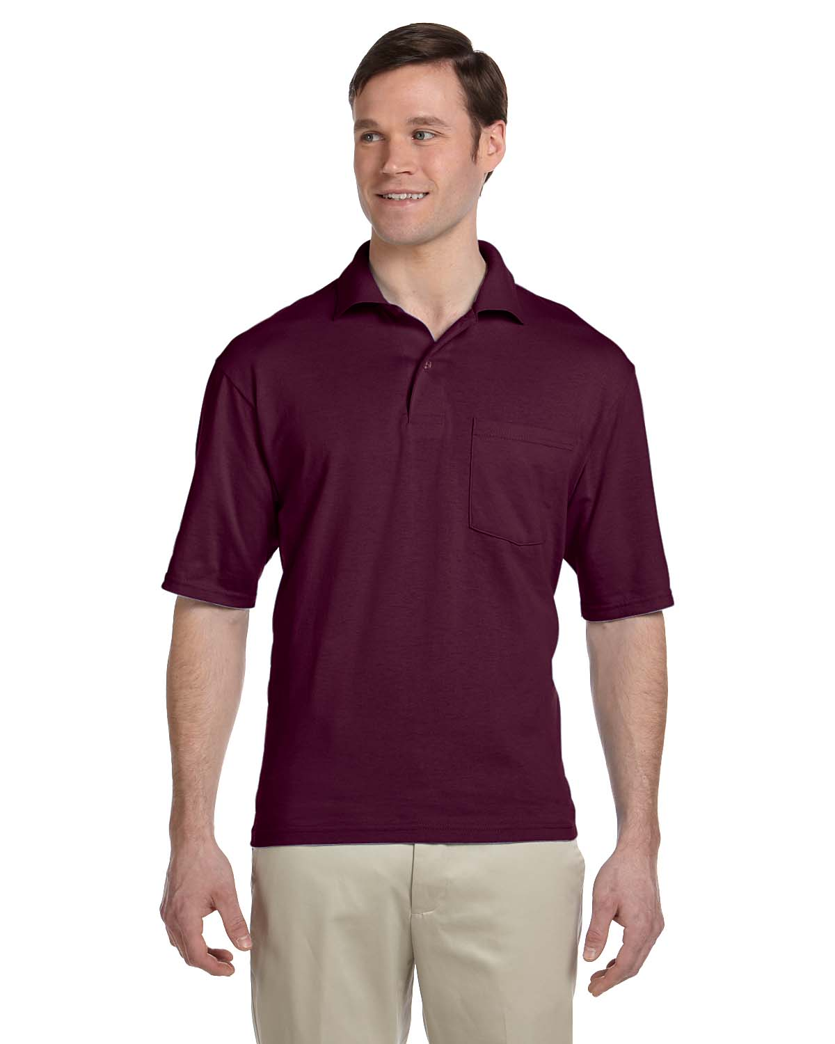 Jerzees 5.6 Oz., 50/50 Jersey Pocket Polo With SpotShield™